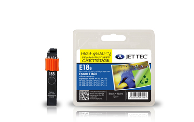 Jet Tec E18B remanufactured black Epson T1801 inkjet printer cartridge